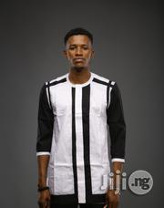 ADOT Men's Casual Shirt - Black White | Clothing for sale in Lagos State, Shomolu