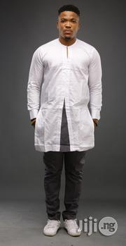 ADOT Men's Traditional Wear - Grey White | Clothing for sale in Lagos State, Shomolu