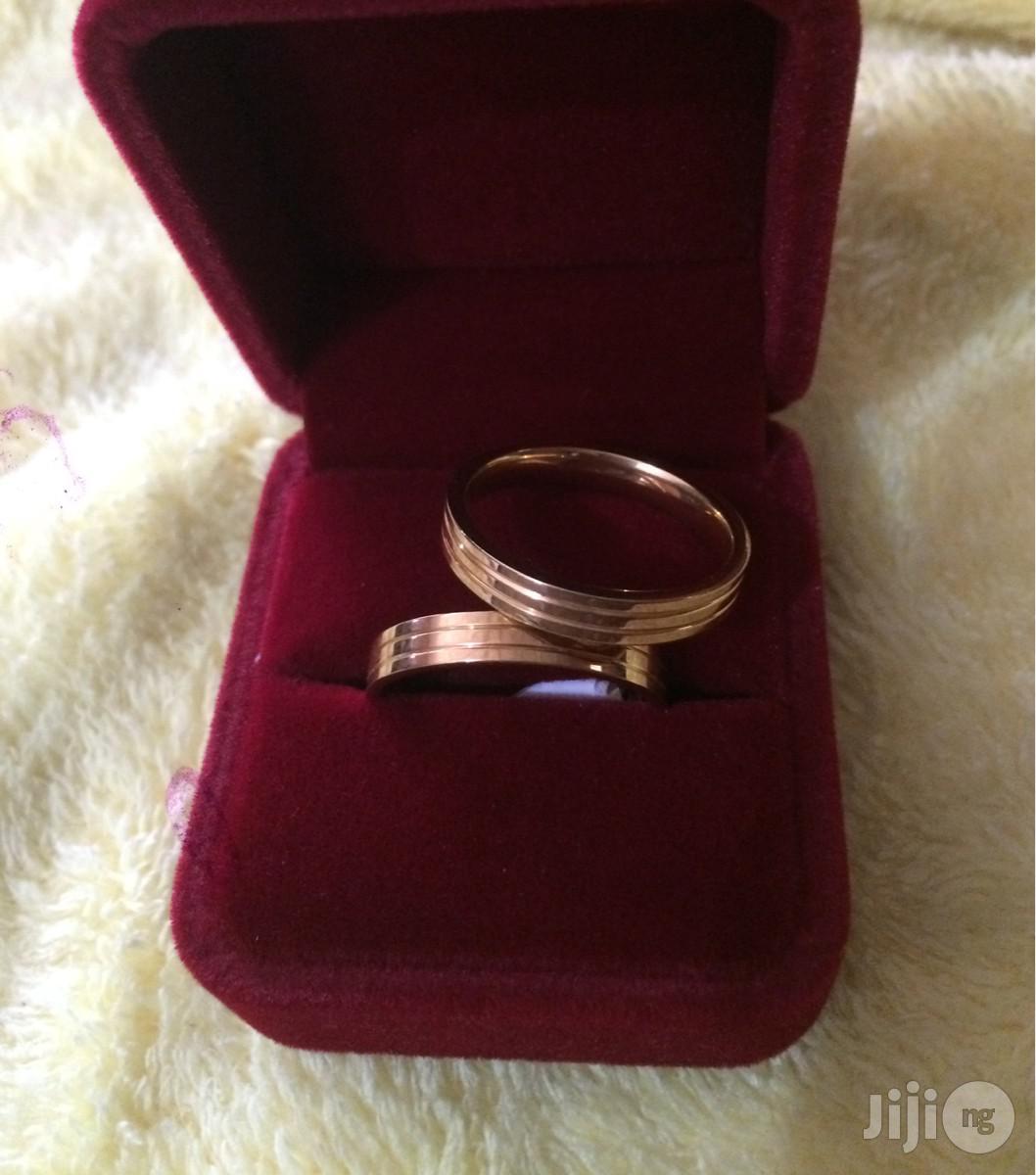 Titanium Gold Plated Wedding Ring