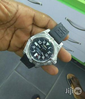 Breitling Silver Rubber Strap Watch | Watches for sale in Lagos State, Lagos Island (Eko)