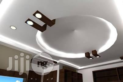 Beautiful Classy Pop Ceiling Design in Ikeja - Building & Trades Services,  Mattkriz General Construction Company | Jiji.ng