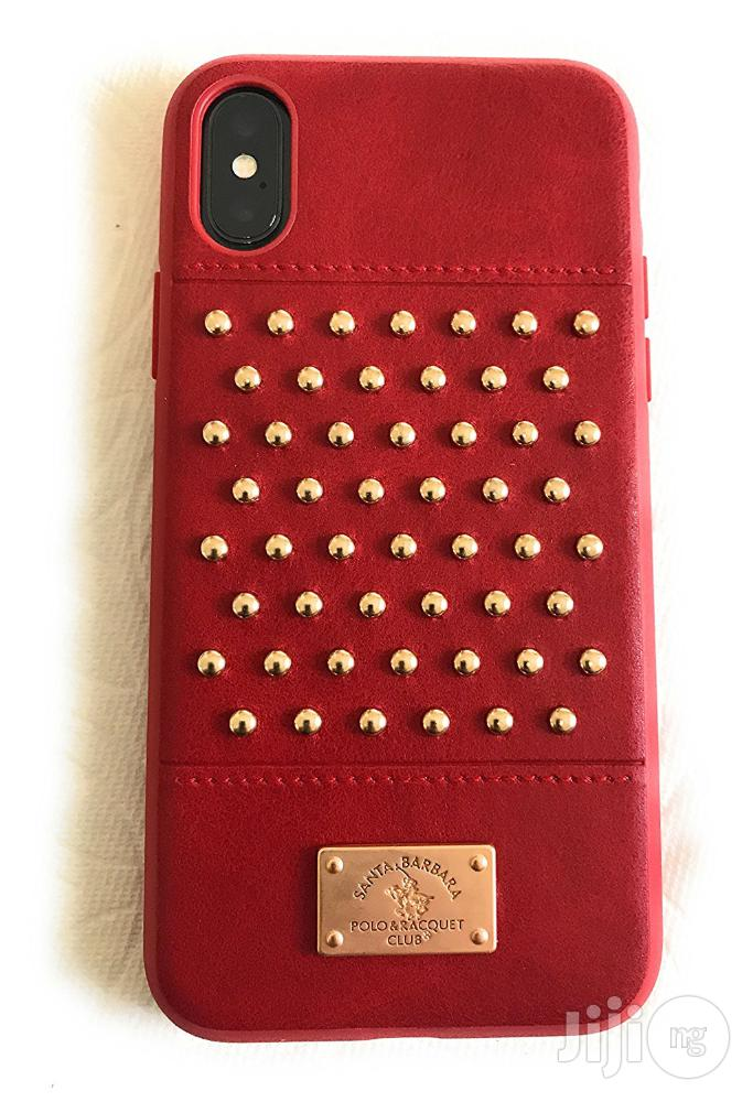 iPhone X Staccato Santa Barbara Polo Racquet Club Leather Luxury Case