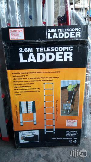 EN131 Telescoping Ladder Aluminum 2.6mt | Hand Tools for sale in Lagos State, Lagos Island (Eko)