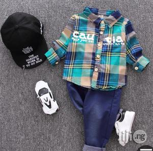 Multicoloured Shirt And Jean Trousers   Children's Clothing for sale in Lagos State, Surulere