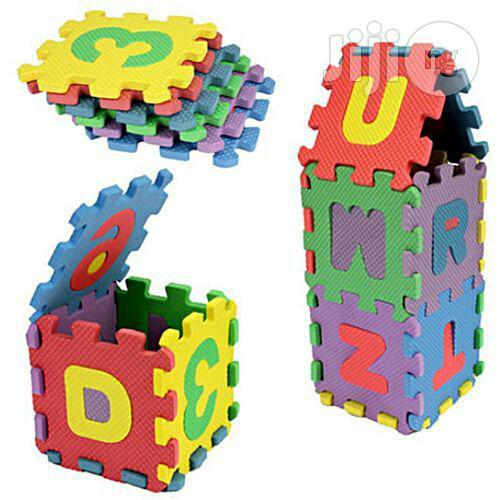 Liplasting 36pcs Baby Kids Alphanumeric Educational Puzzle Blocks