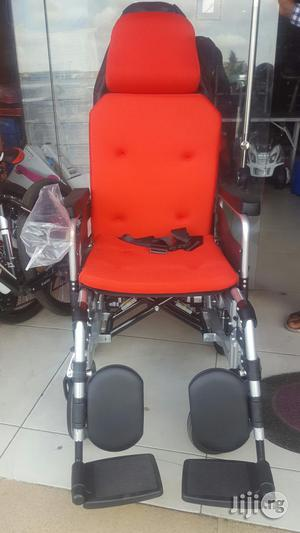 Automatic Wheelchair With Battery Rechargeable | Medical Supplies & Equipment for sale in Lagos State, Ikeja
