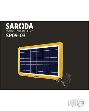6V 6W Multi Plugs Solar Panel For Mobile Phones & Rechargeable Lights | Solar Energy for sale in Lagos State, Ikeja
