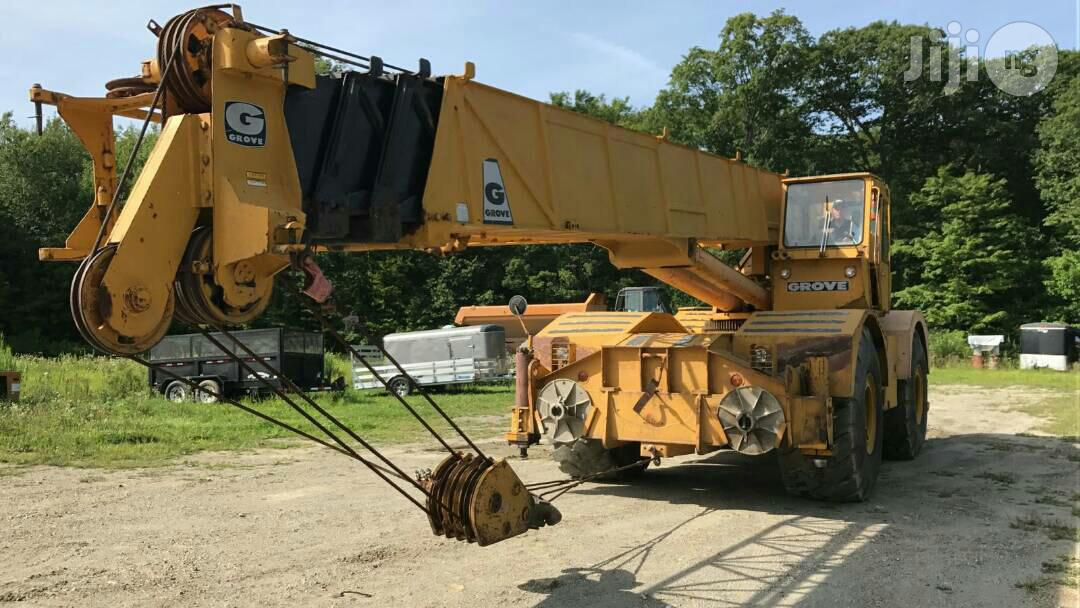 Groove Moto Crane 50 Tons 1999 Yellow For Sale | Heavy Equipment for sale in Amuwo-Odofin, Lagos State, Nigeria
