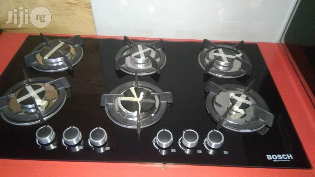 6 Burners In-Built Cooker(Glass)