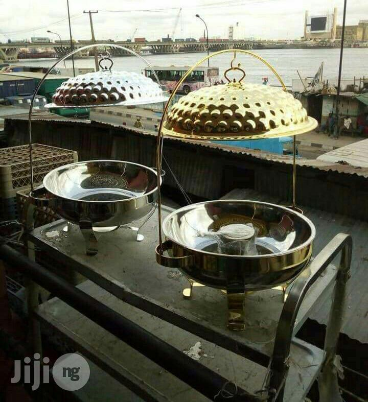 Archive: Round Gold Chaffing Dish Warmer