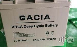 Gacia 40ah/12v Deep Cycle UPS Battery | Solar Energy for sale in Lagos State, Ikeja