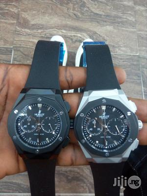 Hublot Geneve Swiss Made Rubber Strap Chronograph Watch   Watches for sale in Lagos State, Surulere