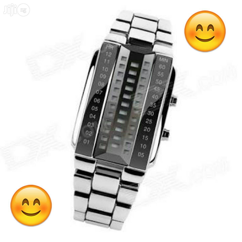 Skmei 1035 Men's Waterproof 3D Digital Watch | Watches for sale in Ikeja, Lagos State, Nigeria