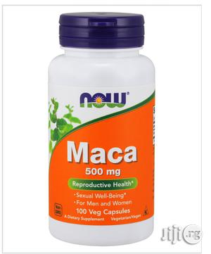 Maca Now Capsules 500mg X100 Capsules | Sexual Wellness for sale in Lagos State, Surulere