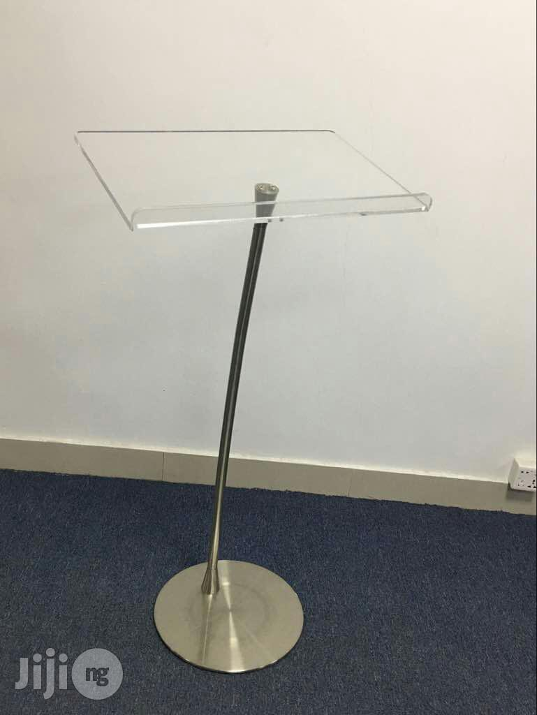 Tiny Stand Clear Acrylic Church Pulpit