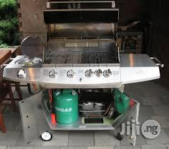 Stainless Steel Gas Grill Barbecue With PP Wheels