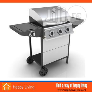 Stainless Steel Gas Grill Barbecue With PP Wheels | Kitchen Appliances for sale in Lagos Island (Eko), Lagos State, Nigeria