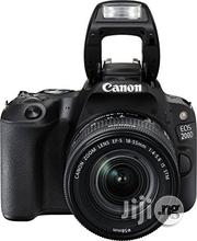 Canon EOS 200D With 18- 55mm Lens | Photo & Video Cameras for sale in Lagos State, Ikeja