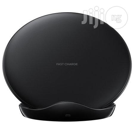 Samsung Wireless Pad Fast Qi Charger For S9/S9 Plus - Black | Accessories for Mobile Phones & Tablets for sale in Ikeja, Lagos State, Nigeria