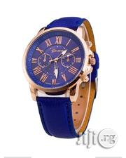 Geneva Unisex Casual Chronograph Watch -blue | Watches for sale in Lagos State, Agege