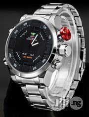 AMST Full Functional LED Display Bracelet Watch - Silver - Blackface   Watches for sale in Lagos State, Agege