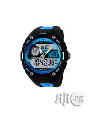 Skmei Men's Hybrid Waterproof Watch - Blue | Watches for sale in Lagos State, Agege