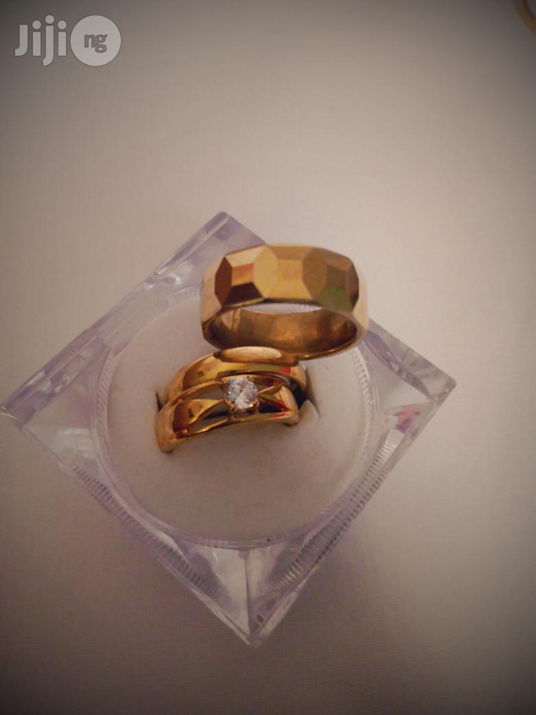 Couple Wedding Ring Set-Gold