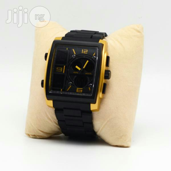 Skmei Mens Black Wristwatch   Watches for sale in Surulere, Lagos State, Nigeria