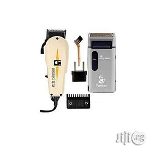 Hair Clipper With Yandou Rechargeable Shaver | Tools & Accessories for sale in Lagos State, Lagos Island (Eko)