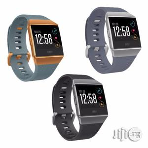 Fitbit Ionic Fitness Watch (Charcoal/Smoke Gray)FB503GYBK   Smart Watches & Trackers for sale in Lagos State, Ikeja
