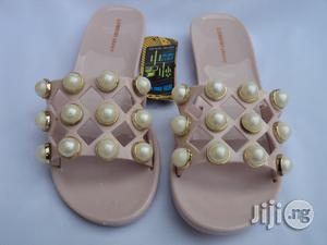 Lumeidi Simple Studded Jelly Slippers - Pink | Shoes for sale in Lagos State, Agege