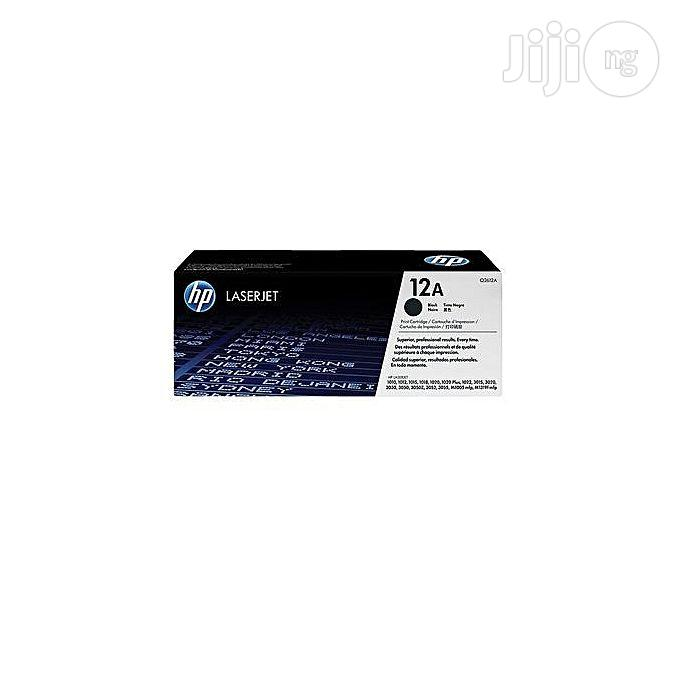 HP 12A Laserjet Toner Cartridge - Q2612a - Black