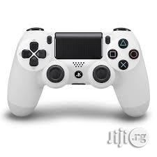 Sony Playstation 4 Wireless Controller - White   Accessories & Supplies for Electronics for sale in Lagos State, Ikeja