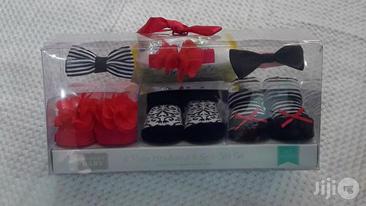 Baby Shoes Booties And Headband Set