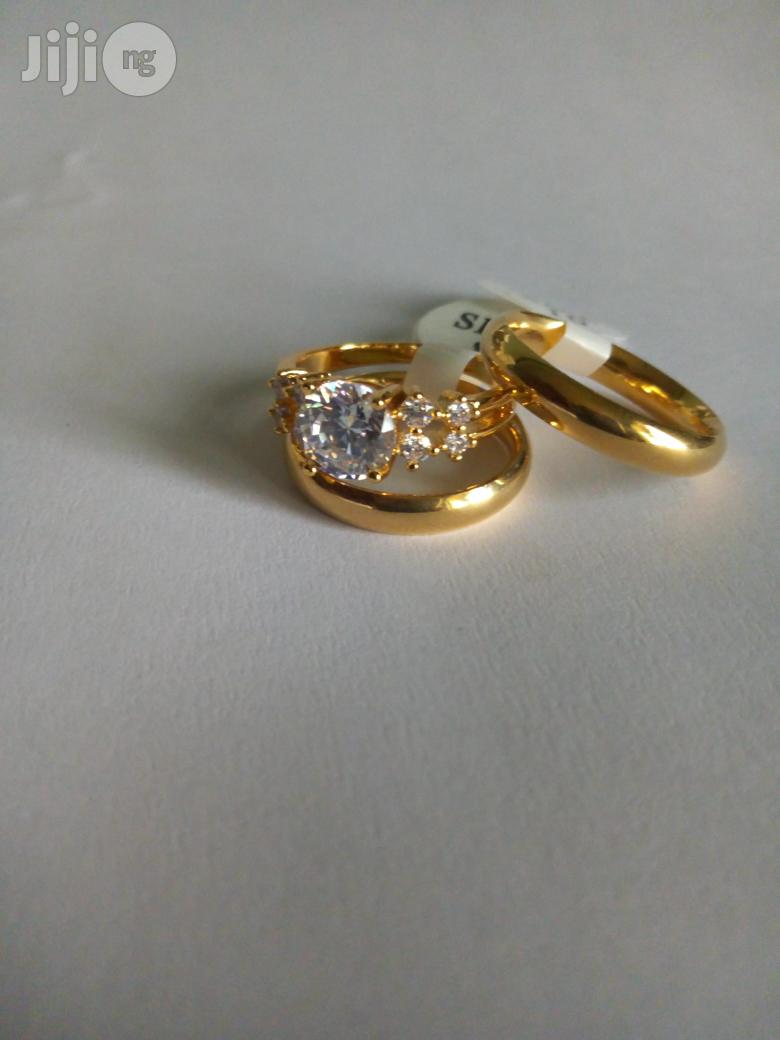 Couple Wedding Ring Set-gold