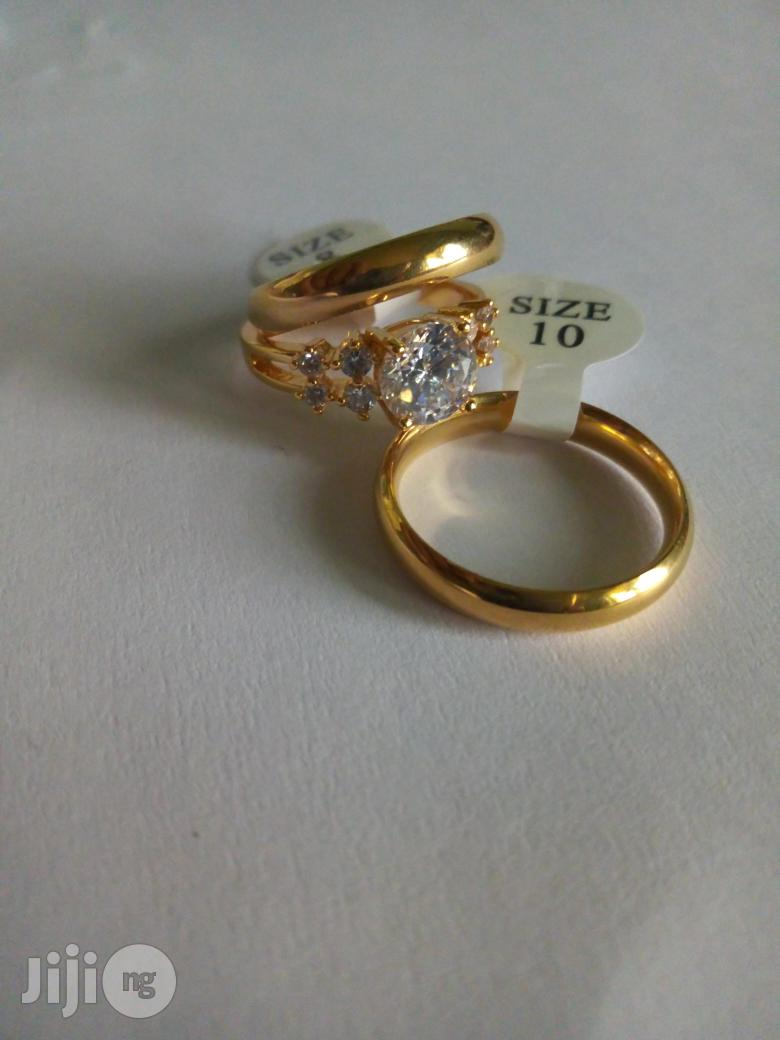 Couple Wedding Ring Set-gold | Wedding Wear & Accessories for sale in Alimosho, Lagos State, Nigeria