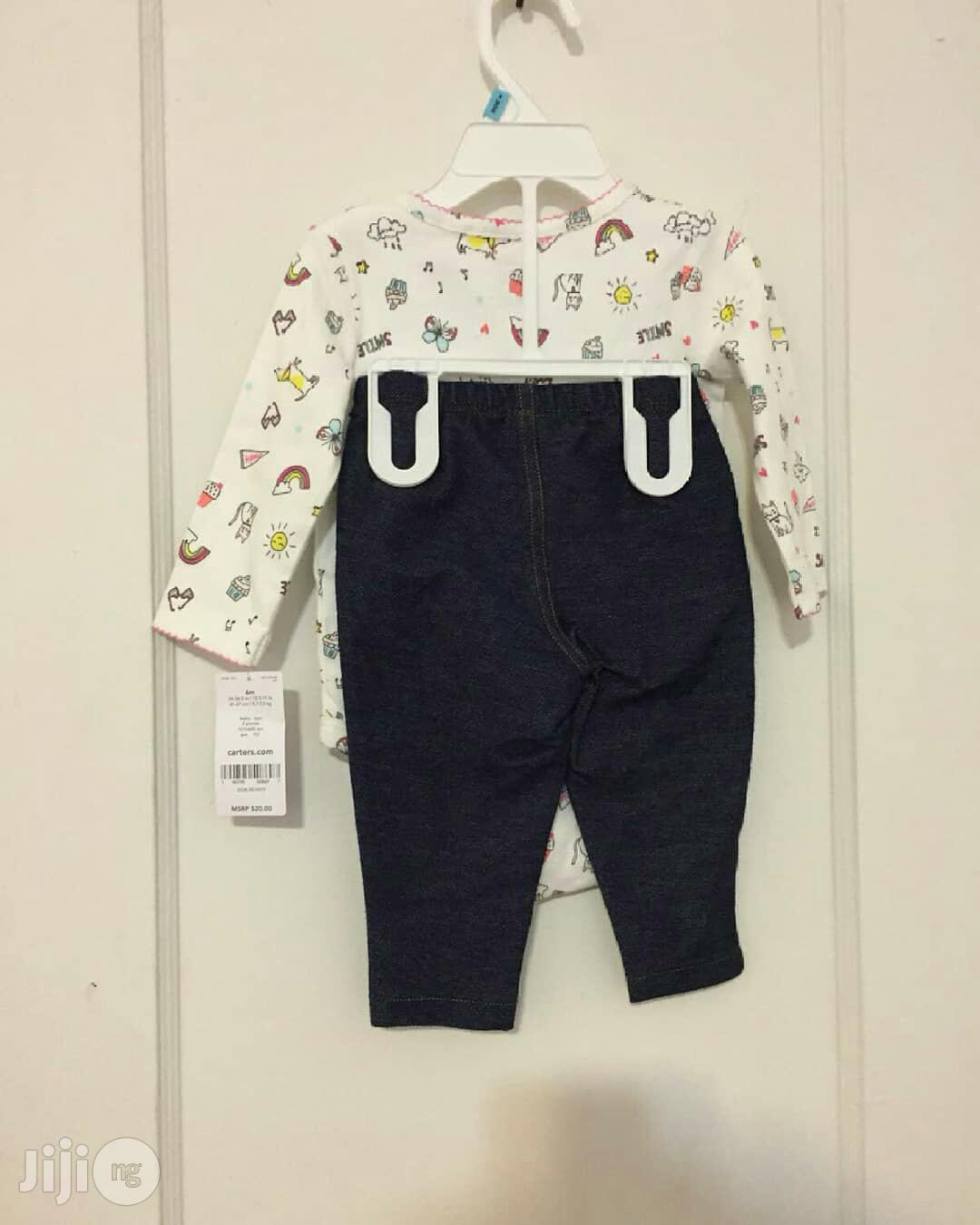 Carter's Baby Body Suit And Jeggings | Children's Clothing for sale in Jabi, Abuja (FCT) State, Nigeria