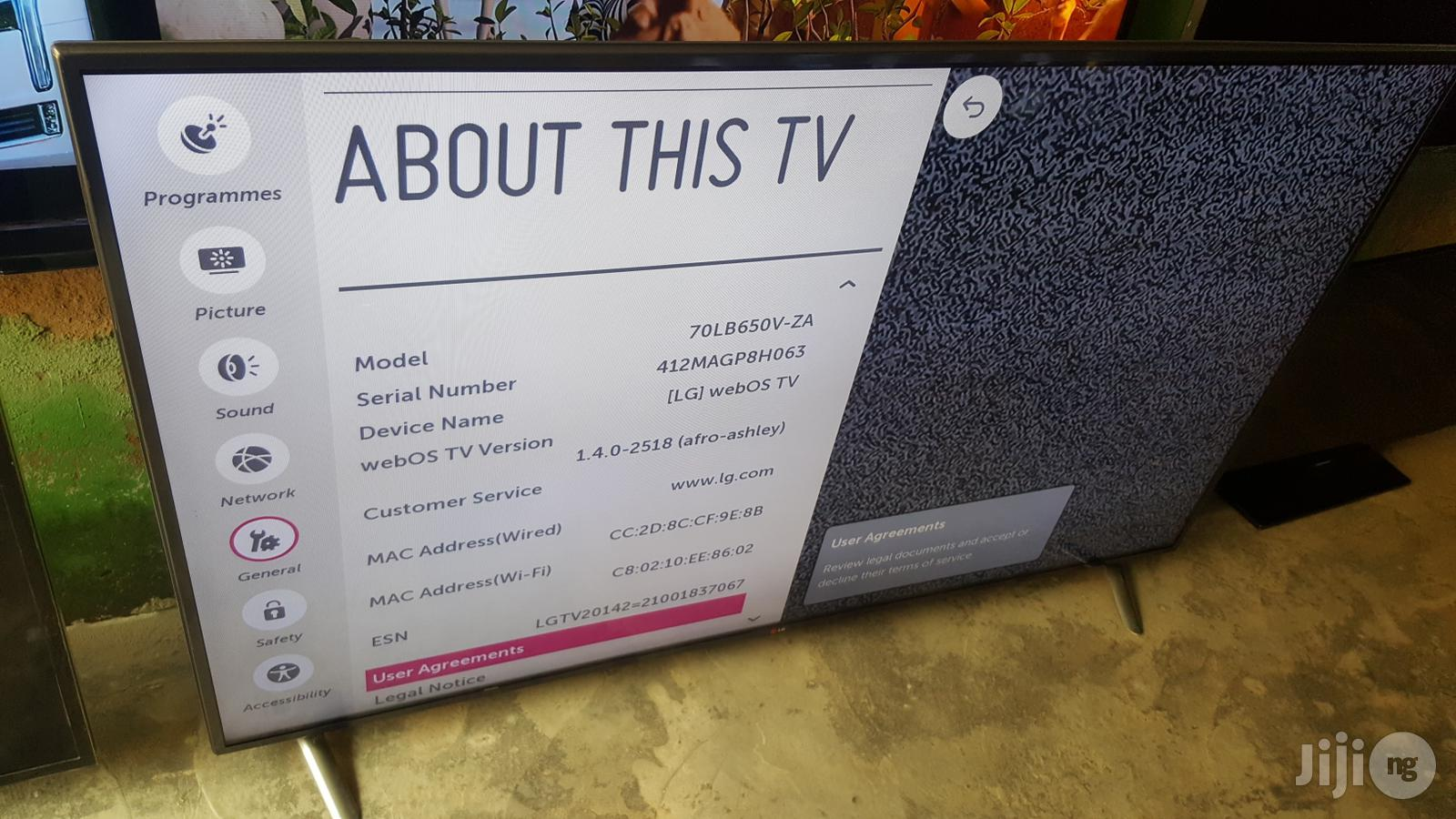 LG Smart Full HD Webos LED 70lb65 70 Inches   TV & DVD Equipment for sale in Ojo, Lagos State, Nigeria