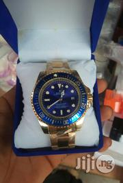 Rolex Mens Blue Face Gold Chain Wristwatch | Watches for sale in Lagos State, Surulere