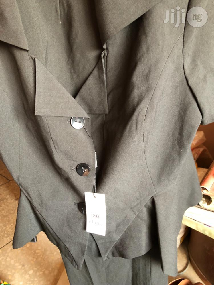 Claire Of London Black Trouser Suit In Size 20