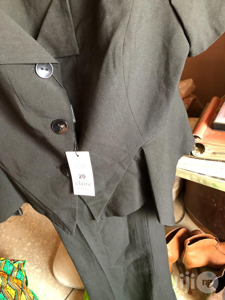 Claire Of London Black Trouser Suit In Size 20 | Clothing for sale in Ifako-Ijaiye, Lagos State, Nigeria