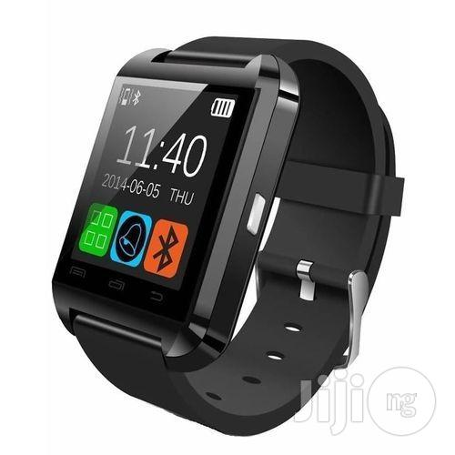 Universal Android Compatible U8 Bluetooth Smart Watch - Black