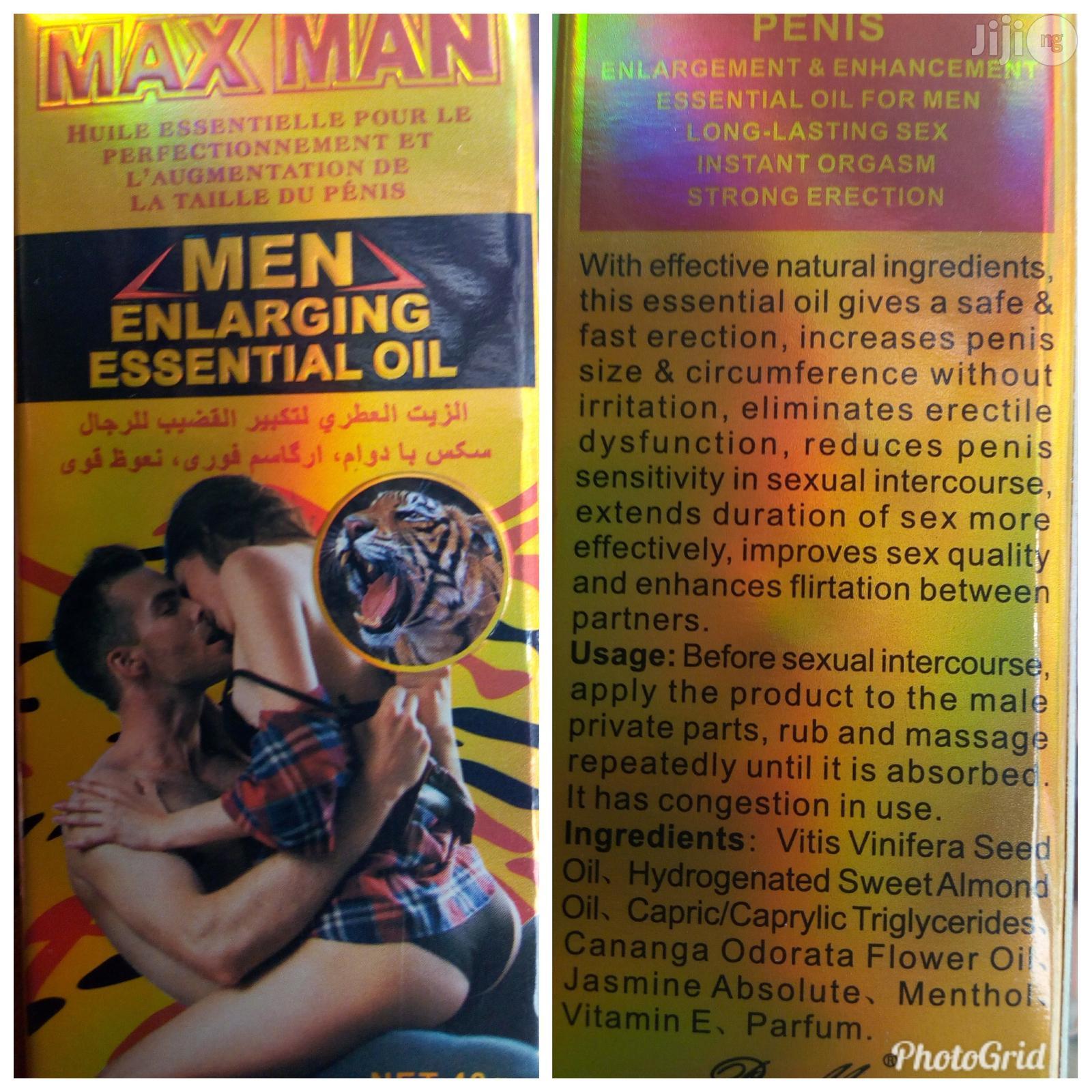 Maxman Penis Enlargement & Long Lasting Oil
