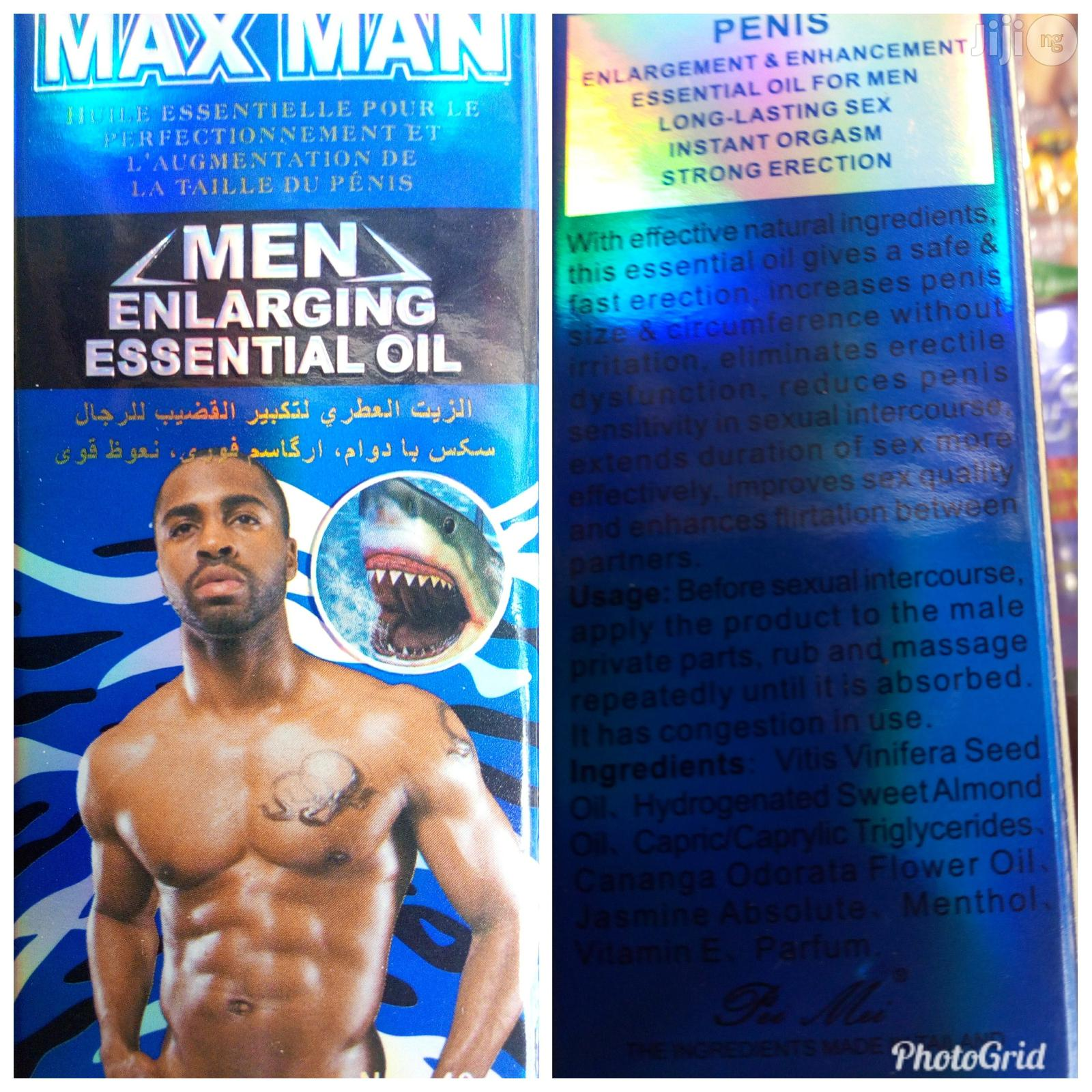 Max Man Penis Enlargement And Long Lasting Oil
