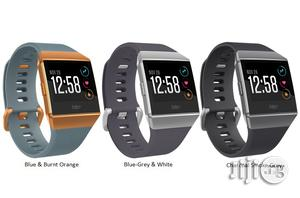 Fitbit Ionic Smartwatch, Charcoal/Smoke Gray/ Black One Size | Smart Watches & Trackers for sale in Lagos State, Ikeja