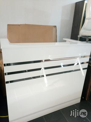 White Reception Desk 1.2meters | Furniture for sale in Lagos State, Victoria Island