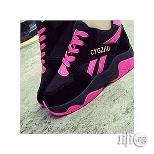 CYGZHU Fashion Ladies'sneakers- Black&Pink   Shoes for sale in Lagos State, Agege
