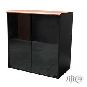 Wooden Glass Low Cabinet | Furniture for sale in Lagos State, Yaba