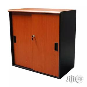 Sliding Door Wooden Low Cabinet | Furniture for sale in Lagos State, Yaba
