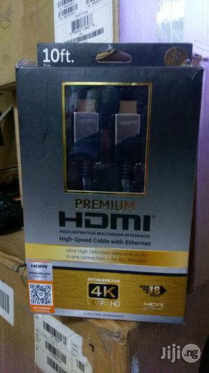 HDMI High Speed Cable With Ethernet 10ft (3m) | Accessories & Supplies for Electronics for sale in Lagos State, Ikeja